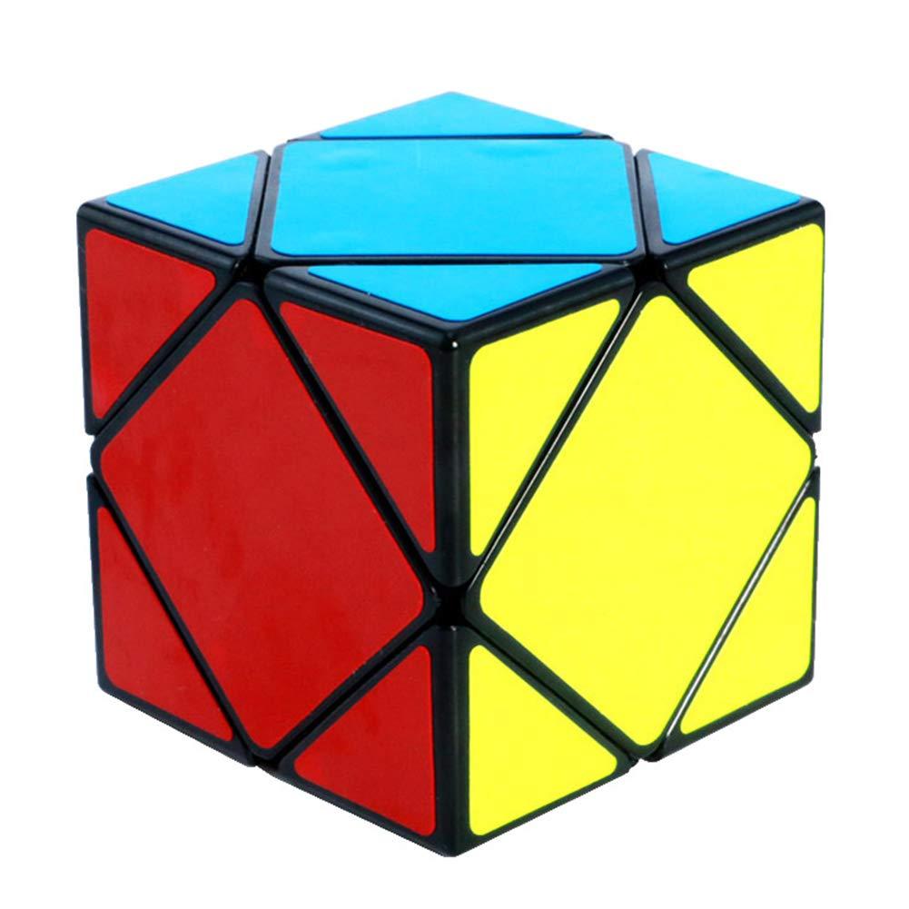 JIAAE Puzzle Rubik's Cube 3X3x3 Oblique Rotate Primary School Student Game Dedicated Alien Rubik,Black