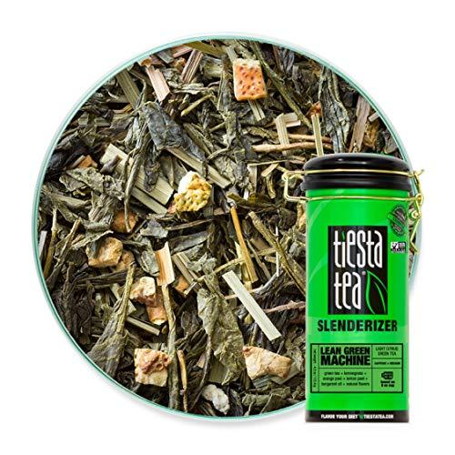 Tiesta Tea | Lean Green Machine, Loose Leaf Light Citrus Green Tea | All Natural, Medium Caffeine, Metabolism and Energy Boost | 4oz Tea Tin Canister - 50 Cups | Citrus Green Tea