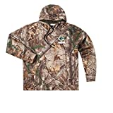 Dunbrooke Apparel NFL Green Bay Packers Boys Champion Realtree Xtra Polyester Tech Fleece Pullover, Medium, Camo