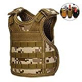 CyberDyer Beer Vests Beverage Cooler Tactical Mini Molle Adjustable Beverage Holder for 12oz or 16oz Cans or Bottles (Desert Camouflage) Larger Image