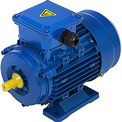 VEVOR 1/3 HP Electric Motor Three Phase 0.25 KW Rated speed 2710 RPM Standard Motor B14 Mounted