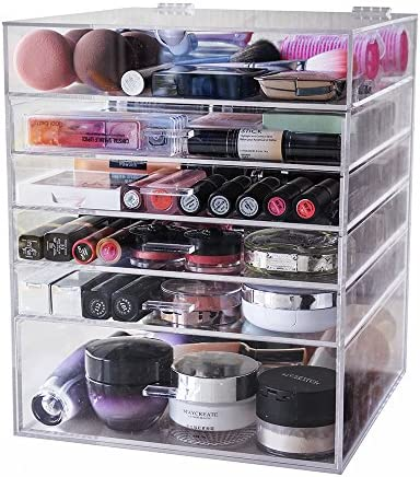 Display4top Caja acrílica Estante de maquillajes Maquillaje ...