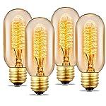 Edison Light Bulbs, 40Watt Antique Vintage Light Bulbs, Dimmable, E27/E26 Base, Warm White, 110v - 130v, T45 Tube Shape… 6