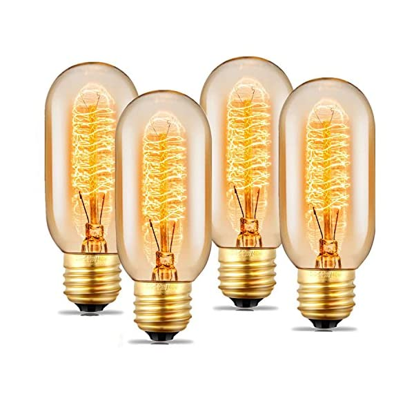 Edison Light Bulbs, 40Watt Antique Vintage Light Bulbs, Dimmable, E27/E26 Base, Warm White, 110v - 130v, T45 Tube Shape… 3