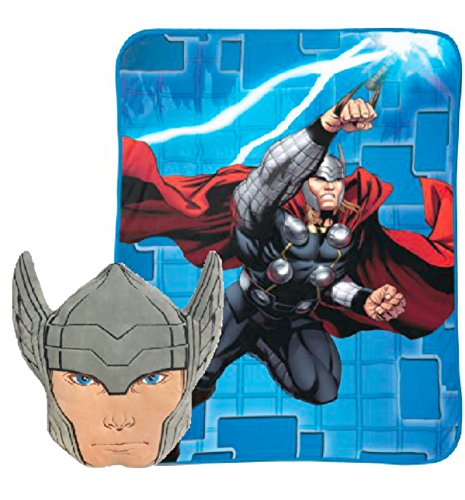 Marvel Nogginz Thor Pillow & Blanket Kids Bedding Set