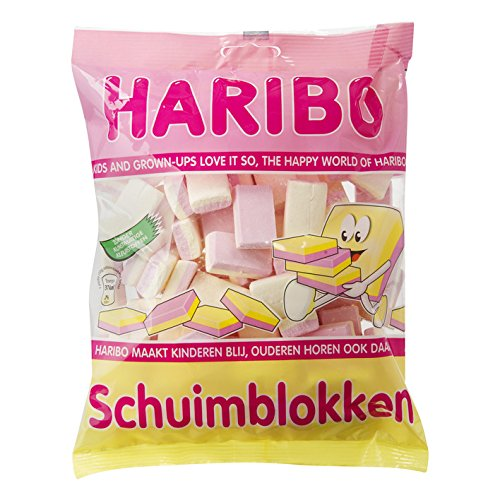 Haribo schuimblokken /Marshmellow Candies Hard 1 bag 120gr4.23oz