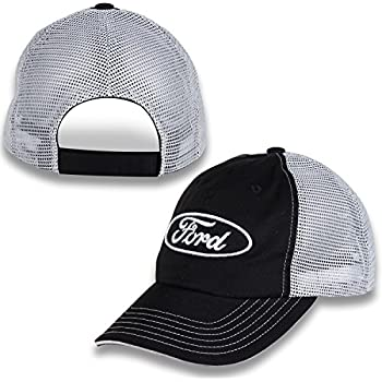 Amazon.com  Ford Logo Blue Mesh Back Baseball Hat Baseball Cap ... f536f3846397