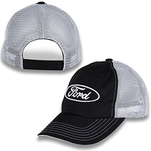 Ford Oval Black and Gray Mesh Hat