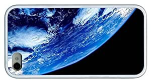 Hipster iPhone 4 coolest case Blue Earth TPU White for Apple iPhone 4/4S