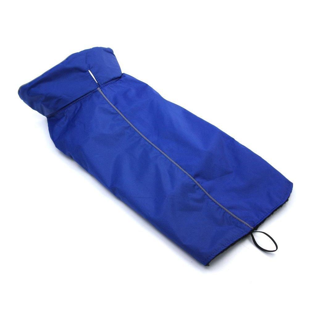 Fleece Dog Sweater Black Dog Rain Coats ThinkPet Outdoor Waterproof Reflective Dog Winter Jacket S