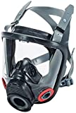 MSA Safety 10083791 Advantage 4200 Series Full-Facepiece Hycar Respirator with Rubber Head Harness, Twin-Port, Large