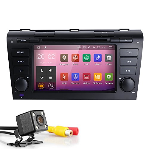 Cheap Android 8.1 Quad Core 7 inch Double Din in Dash HD Touch Screen Car DVD Player GPS Navigation Stereo for Mazda 3 2004-2009 Support Navi/Bluetooth/SD/USB/FM/AM Radio/WIFI/DVR/1080P + Camera