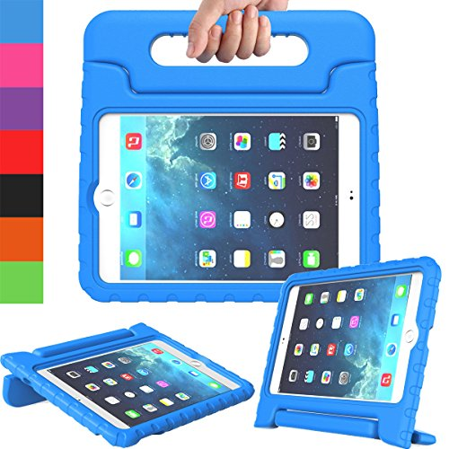AVAWO Apple iPad Mini 1 2 3 Kids Case - Light Weight Shock Proof Handle Stand Kids for iPad Mini, iPad Mini 3rd Generation, iPad Mini 2 with Retina Display - Blue