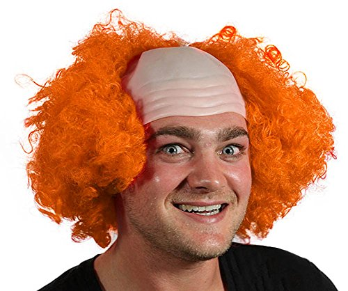 My Costume Wigs Men's Scary Clown Wig (Orange) One Size Fits All ()