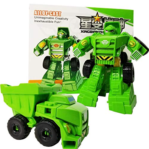 Tonmp One Step Deformation Toy,Heroes Rescue Bots Medix The Doc-Bot Car Robot Model for Boys and Children's Toys (Giant Stone - Robot Green