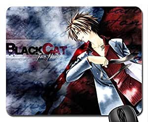 black cat formal assassin Mouse Pad, Mousepad (10.2 x 8.3 x 0.12 inches)