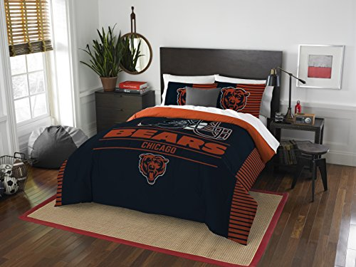 Bears Set Sheet Chicago Full (The Northwest Company NFL Chicago Bears Draft Full/Queen Comforter and 2 Sham Set)