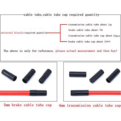 Bicycle Derailleur Cable Bike Shifting Cable Line Wire Hose Housing Set Bicycle Parts Accessories (Black) by dolphin1986 (Image #3)