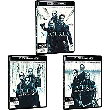 Pack Matrix - Incluye: Matrix + Matrix Reloaded + Blu-Ray + Matrix Revolutions 4k Uhd Blu-ray: Amazon.es: Cine y Series TV
