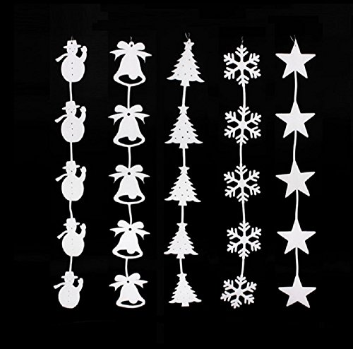 red cherry 80cm christmas tree snowman bell snowflake foam window stickers 5pcs pack by Red Cherry