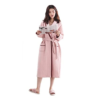 a92c73e7958d Camisones Pijamas camisón para Mujer otoño e Invierno de Manga Larga ...