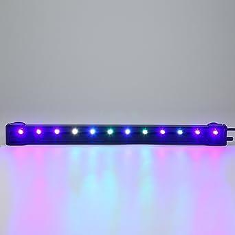 Glighone Luz Táctil de Acuario LED Burbuja 31cm 12 LEDs Lámpara de Acuario para Plantas Sumergible