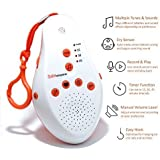 Sleep White Noise Baby Sound Machine - Soothing Sounds Soundspa- Lullaby Projector -The Shusher -Electronic Husher- Portable Heartbeat Machine- Sounds To Fall ASLEEP-Sleepeasy Version White-Noise- Shh