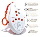 fall cry 3 - Sleep White Noise Baby Sound Machine - Soothing Sounds Soundspa- Lullaby Projector -The Shusher -Electronic Husher- Portable Heartbeat Machine- Sounds To Fall ASLEEP-Sleepeasy Version White-Noise- Shh