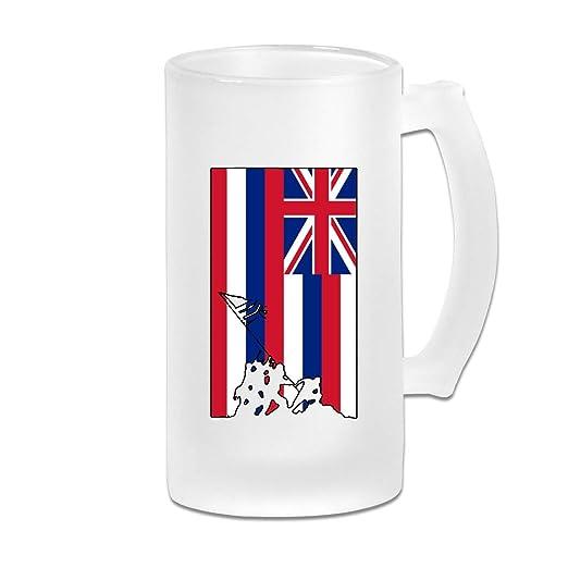 Vasos de cerveza con asa, diseño de la bandera del Estado de ...