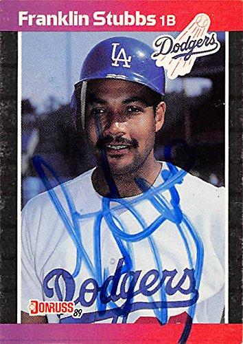 (Autograph 158461 Los Angeles Dodgers 1989 Donruss No. 321 Franklin Stubbs Autographed Baseball Card)