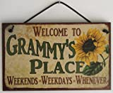 5x8 Vintage Style Sign with Sunflower Saying,