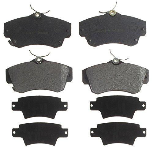 ACDelco 14D841M Advantage Semi-Metallic Front Disc Brake Pad Set with Wear Sensor