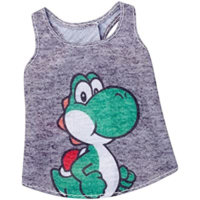 Barbie Super Mario Yoshi Gray Top Fashion: Toys & Games