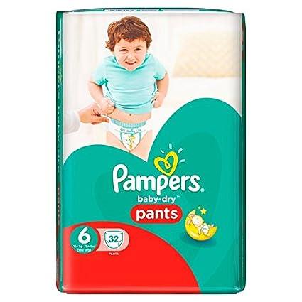 Pampers bebé seco pantalones talla 6 esencial Pack 32 (zafiro Fashions Ltd artículo)