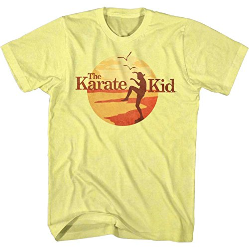 Karate Kid - Mens Sunset Kid T-Shirt, Size: X-Large, Color: Yellow Heather ()
