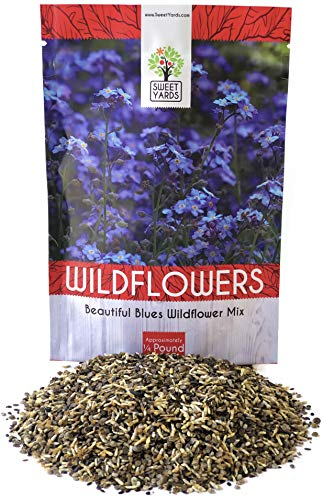 (All Blues Wildflower Seeds - Bulk 1/4 Pound Bag - Over 30,000 Pure Live Seeds!)