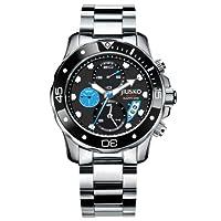 JIUSKO Deep Sea Series Men's Luxury Stainless Steel Chronograph Dive Watch 72LSB13 by JIUSKO