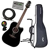Takamine GD30CE BLK Dreadnought Cutaway Acoustic Electric Guitar Black w/Polish