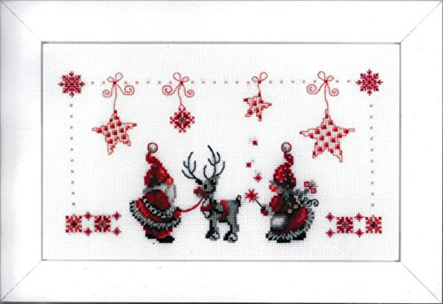 Tablecloth Kit for Embroidery (Needlework Christmas Elves 0154476)