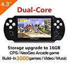 CZT 64Bit Handheld Game Console 4.3'' Video Game Console Support Built-in 1300 CPS/NEOGEO/GBA/SFC/MD/FC/GBC/SMS/GG