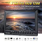 FEELWORLD FW760 Camera Monitor Full HD Ultra-thin 1920x1200 Support 1080P 4K HDMI With Histogram, Zebra for DSLR Cameras, And many other functions(7 inch)