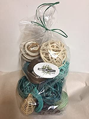 Aquamarine Rattan Decorative Spheres Bowl And Vase Filler Assorted Woven Twig Balls By Wreaths For Door