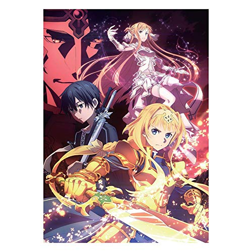 Zzeroe Sword Art Online Poster Prints - Anime SAO Wall Scroll Hanging Paintings Art Painting Wall Scroll Poster for Decorative, 42x29cm from Zzeroe