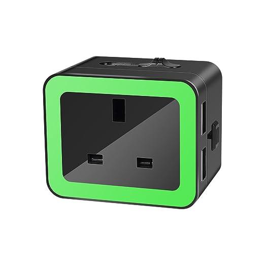 Wetoph GF01 - Adaptador portátil de viaje, cargador rápido ...