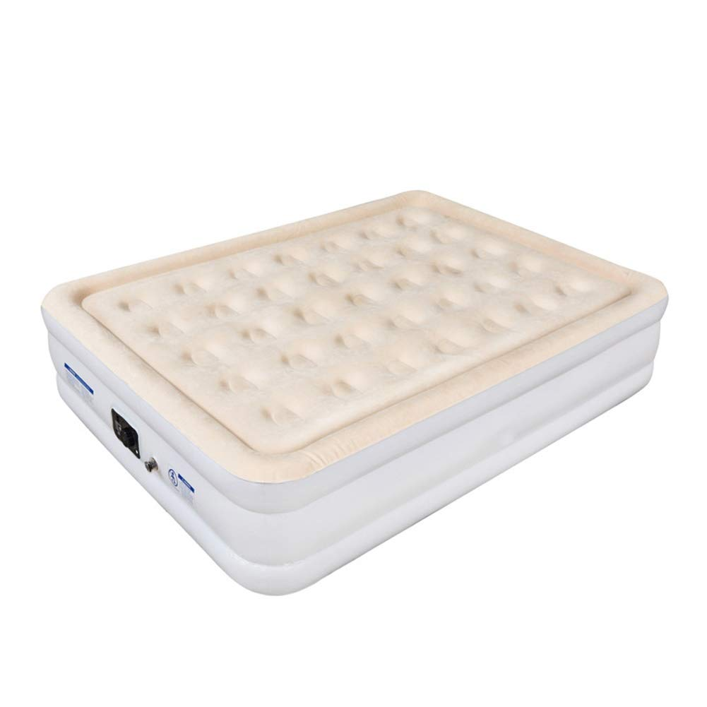 Household Inflatable Bed Double Air Bed Outdoor Flocking Portable Sofa Folding Bed Built-in Electric Pump Inflatable Mattress Bed, 200x150x46cm CIM0929 by ZCY-Auto Mattress