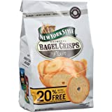 New York Style Bagel Crisps Plain 6 Bags - 7.2 Ounces each
