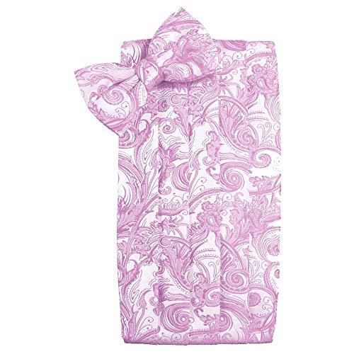 (Men's Tapestry Cummerbund & Bow Tie Set - Many Colors (Rose Petal))