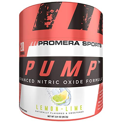 Amplifier Pump Muscle (ProMera Sports Pump, Lemon Lime, 20 Servings, Advanced Nitric Oxide Booster & Pump Amplifier with L-Citrulline HCl for Muscle Growth)