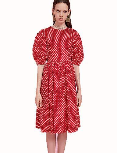 YFLTZ Polka Line Abito A Print femminile Red Dot rqIr6Twdxt