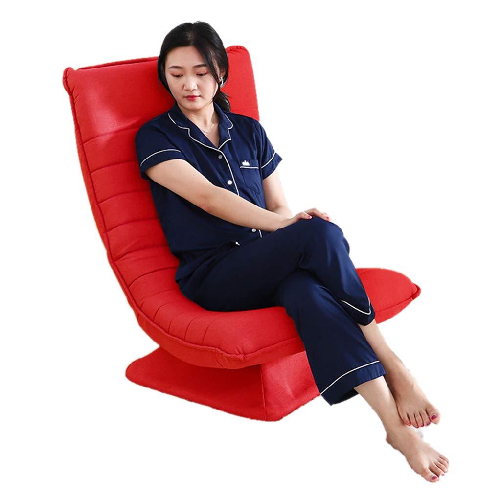 Sillas Giratoria De Gaming Roja, Sofá Perezosa Plegable para La Sala De Estar del Dormitorio: Amazon.es: Hogar